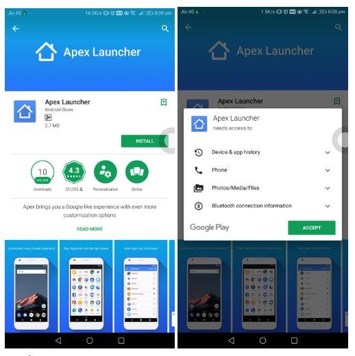 Cách ẩn ứng dụng trên Android bằng app Apex Launcher