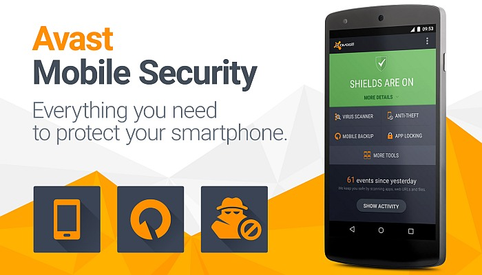 Phần mềm diệt virus cho mobi Android Avast Mobile Security & Antivirus: