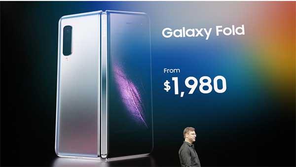Giá bán Galaxy Fold trên thị trường quốc tế khởi điểm từ 1.980 USD
