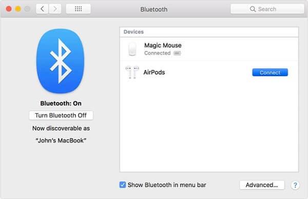 Chỉ cần bật Bluetooth là bạn đã có thể kết nối 2 thiết bị này với nhau