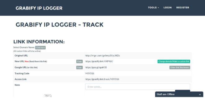 Nhập đường dẫn của một bức ảnh bất kỳ vào ô nhập Enter a valid URL or tracking code