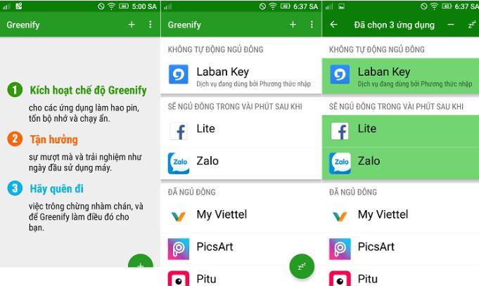 Greenify giúp đưa các ứng dụng tốn nhiều năng lượng về trạng thái ngủ đông