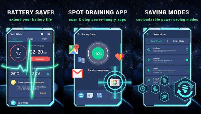 Battery Saver 2019 được kết hợp các tính năng và cài đặt hệ thống thông minh
