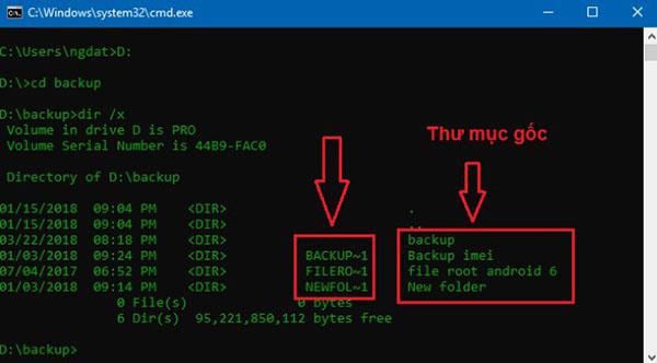 Sử dụng một trong 2 lệnh rmdir hoặc del để xóa file