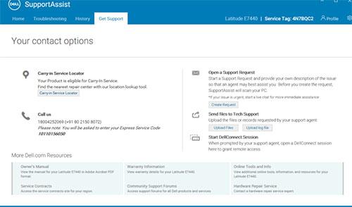 Công cụ SupportAssist cho phép tối ưu hóa hệ thống trên máy tính