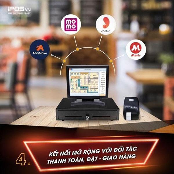 Phần mềm quản lý nhà hàng giúp mở rộng kết nối với nhiều đối tác