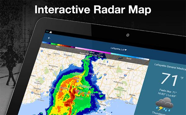 WeatherBug đem đến các thông tin thời tiết chính xác