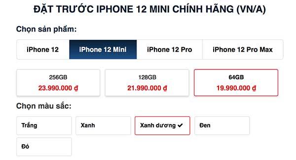 Đặt trước iPhone 12 Mini tại Cellphones