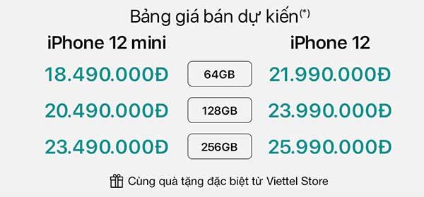 Đặt trước iPhone 12 Mini tại Viettel Store