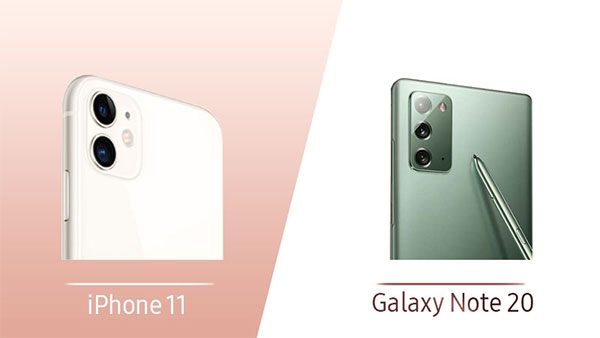So sánh iphone 11 và Galaxy Note 20