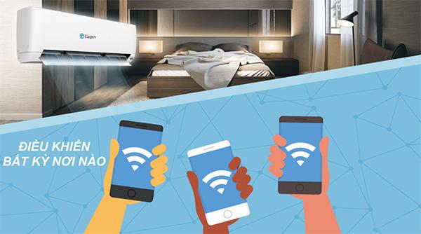 Kết nối wifi cho điều hòa Casper khá đơn giản