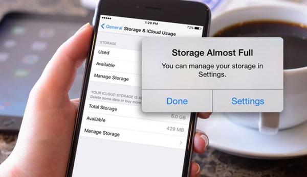 Nguyên nhân bộ nhớ iPhone báo dung lượng ảo