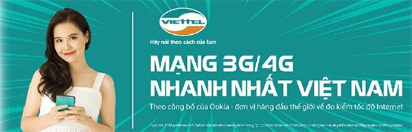 Đăng ký 4G Viettel 1 tháng